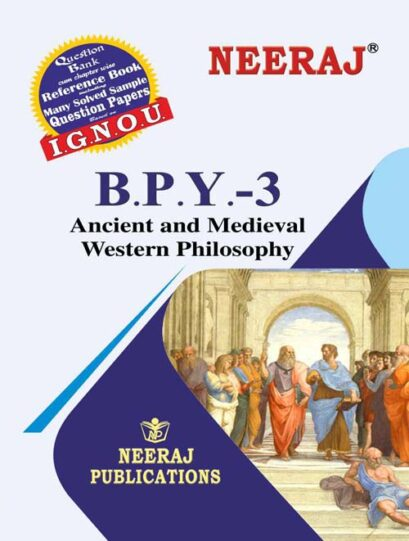 IGNOU BPY-3: Ancient and Medieval Western Philosophy in English Medium