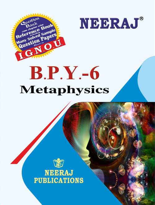 IGNOU BPY-6 Metaphysics in English Medium