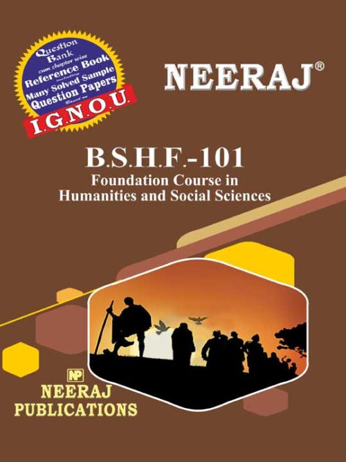 BSHF101 Humanities & Social Sciences (IGNOU Guide Book For BSHF101) English Medium