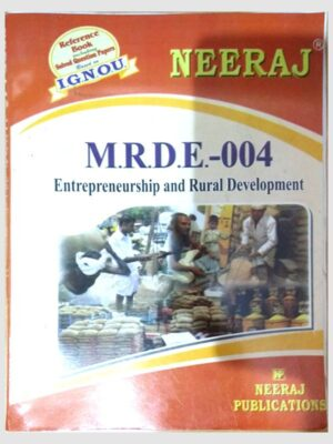 Buy MRDE4 Entrepreneurship and Rural Development(IGNOU Help book for MRDE-004 in Hindi Medium) Book Online at Low Prices in India | MRDE4 Entrepreneurship and Rural Development(IGNOU Help book for MRDE-004 in English Medium)- findyourbooks.in