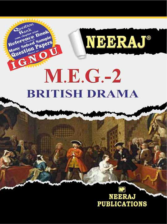 MEG2 British Drama ( IGNOU Guide Book For MEG2 )