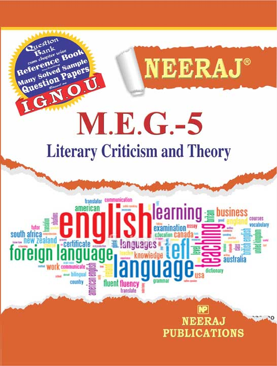 MEG5 Literary Criticism & Theory ( IGNOU Guide Book For MEG5  )