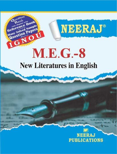 MEG8 New Literature in English ( IGNOU Guide Book For MEG8 )