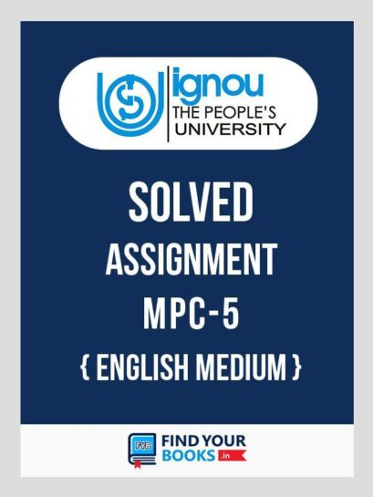 MPC5 Ignou Solved Assignment English Medium