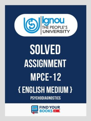 MPCE12 Ignou Solved Assignment English Medium