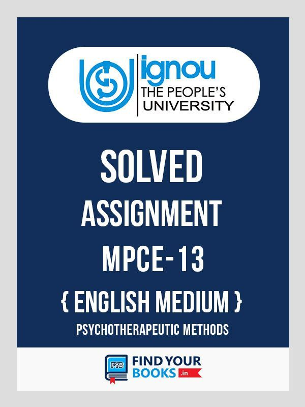 IGNOU MPCE 13 Solved Assignment 2019 in English Medium
