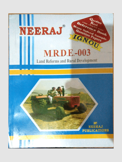 Buy MRDE-3 LAND REFORMS AND RURAL DEVELOPMENT Book Online at Low Prices in India | MRDE-3 LAND REFORMS AND RURAL DEVELOPMENT Reviews & Ratings - findyourbooks.in