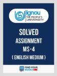 MS4 Ignou Solved Assignment