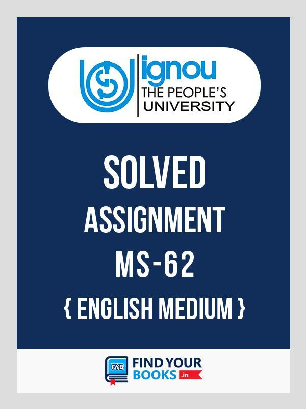 IGNOU MS-62 Sales Management Solved Assignment 2018 English Medium