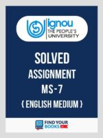 MS7 Ignou Solved Assignment