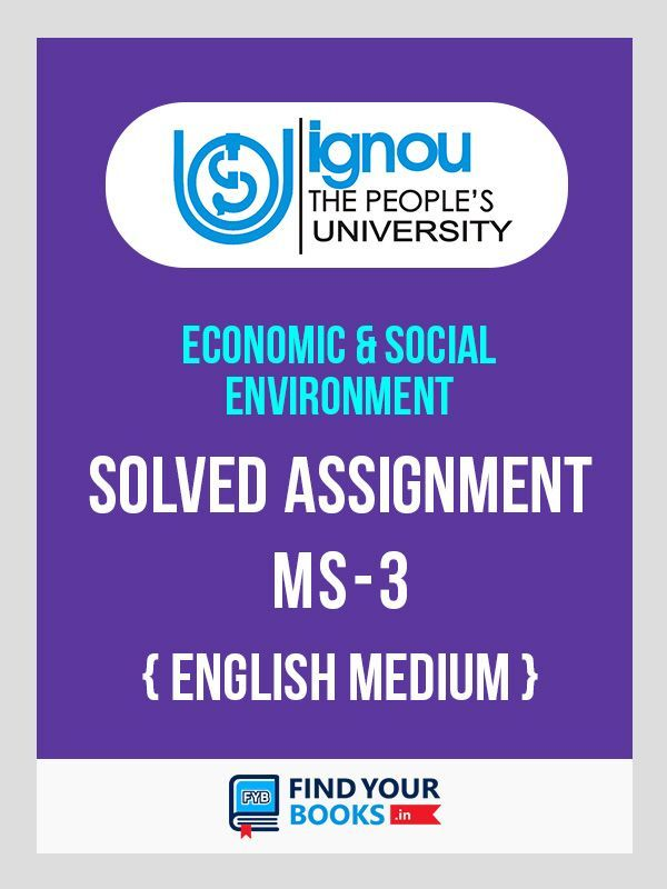 MS-3 IGNOU Solved Assignment 2019 - 1st Sem