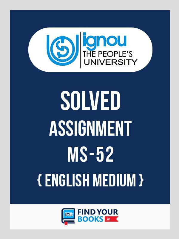 IGNOU MS-52 Project Management Solved Assignment 2018 English Medium