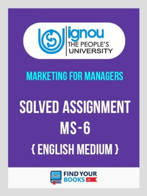 MS6 Ignou Solved Assignment