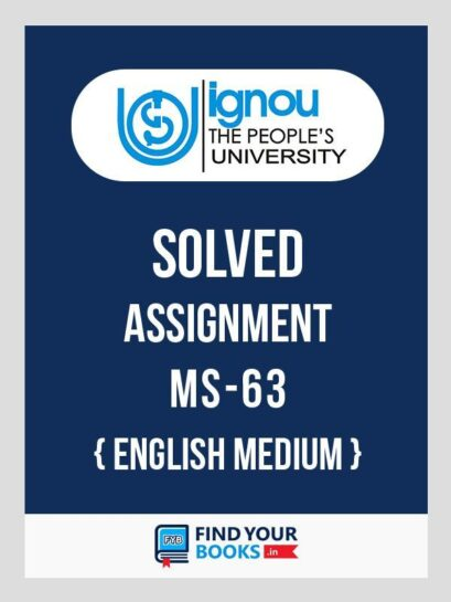 IGNOU MS-63 Product Management Solved Assignment 2018 English Medium