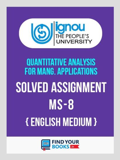 MS-8 IGNOU Solved Assignment 2019 - 1st Sem