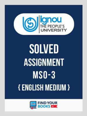 MSO3 Ignou Solved Assignment English Medium