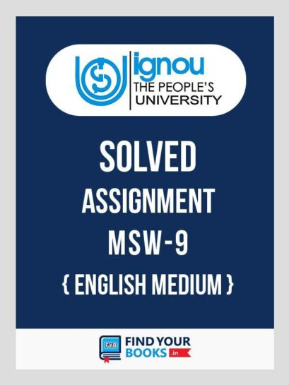 MSW9 Ignou Solved Assignment English Medium