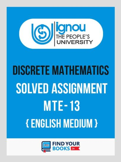 MTE-13 Solved Assignment 2020 at Best Price - IGNOU