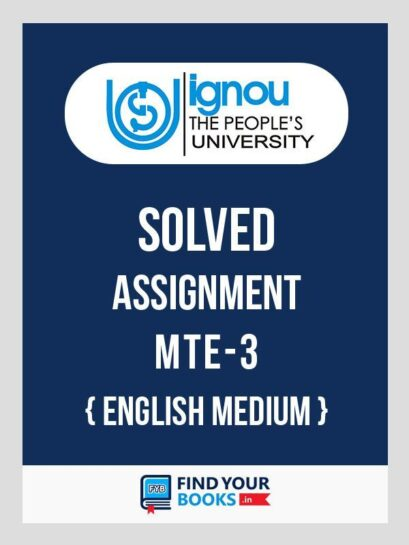 MTE-3 Solved Assignment 2020 at Best Price