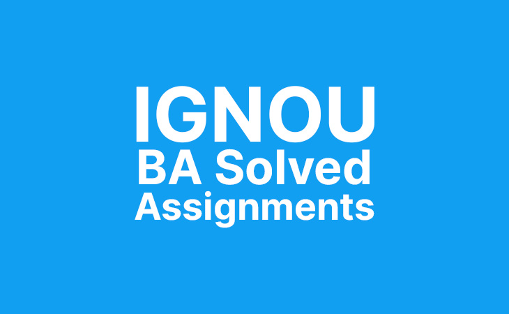 Ignou BA/BDP Assignments