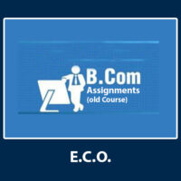 B.Com- Assignments (Old Course)