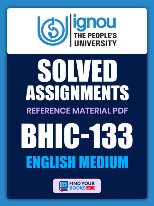 BHIC133 Ignou Solved Assignment English