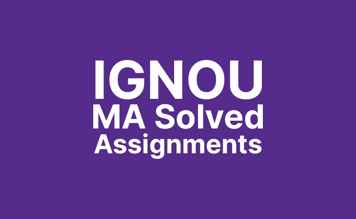 Ignou MA Solved Assignments