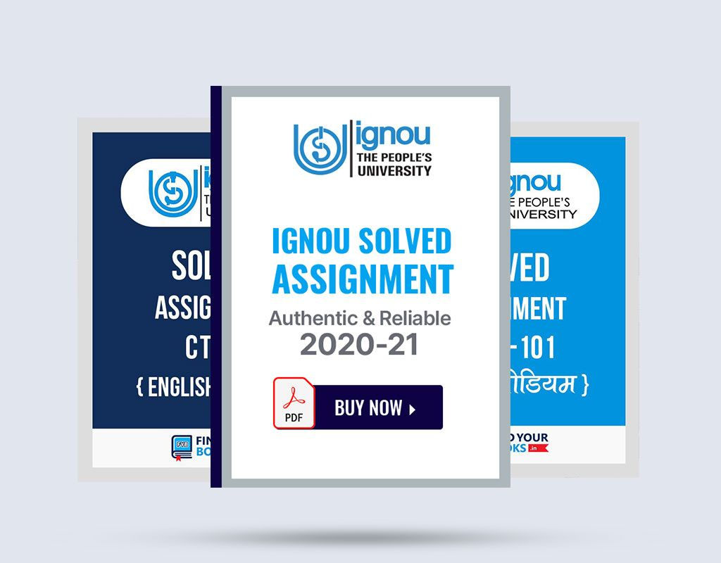 Buy ignou solved assignment 2021