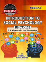BPCC-132 : Ignou GuideBook in English Medium - Introduction To Social Psychology