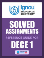 DECE1 Ignou Solved Assignment English