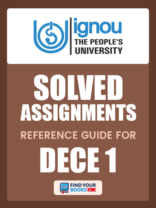DECE1 IGNOU Solved Assignment hindi medium