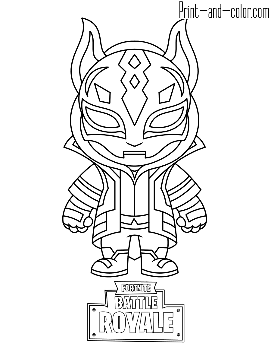 - Fortnite Dj Marshmello Coloring Pages