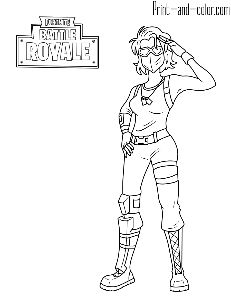 Line Drawing Marshmello Fortnite Coloring Pages