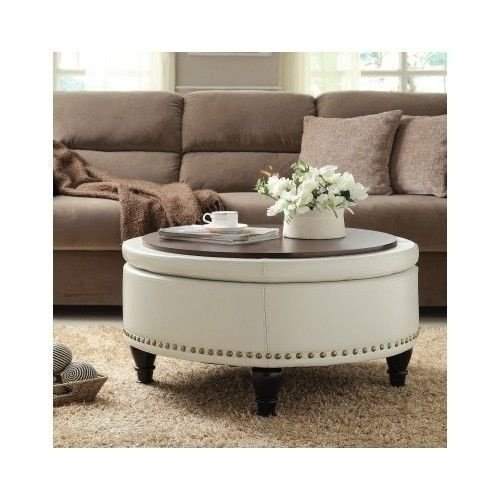 Round Storage Ottoman Coffee Table Ideas On Foter