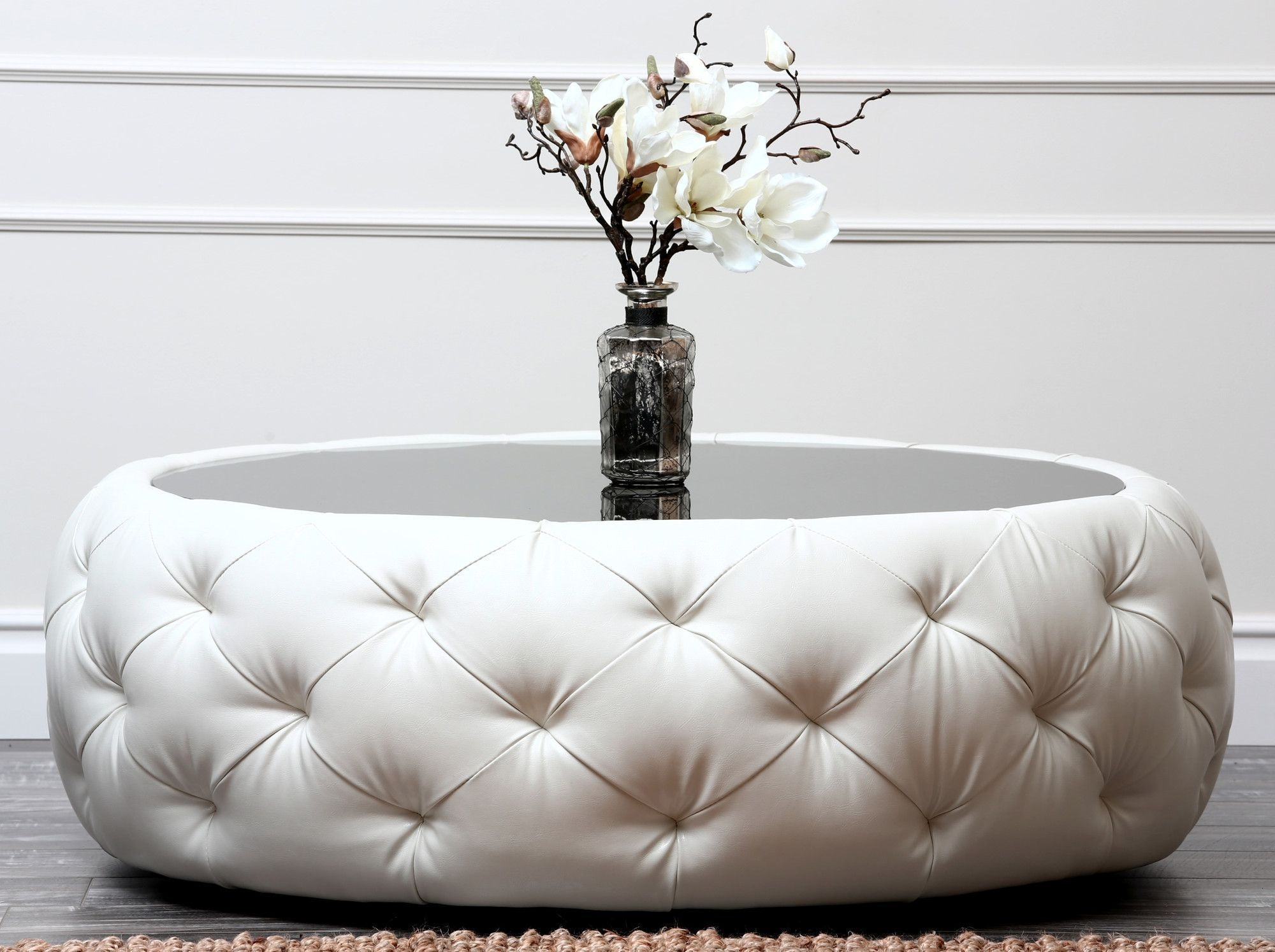 Round Tufted Ottoman Coffee Table Ideas On Foter