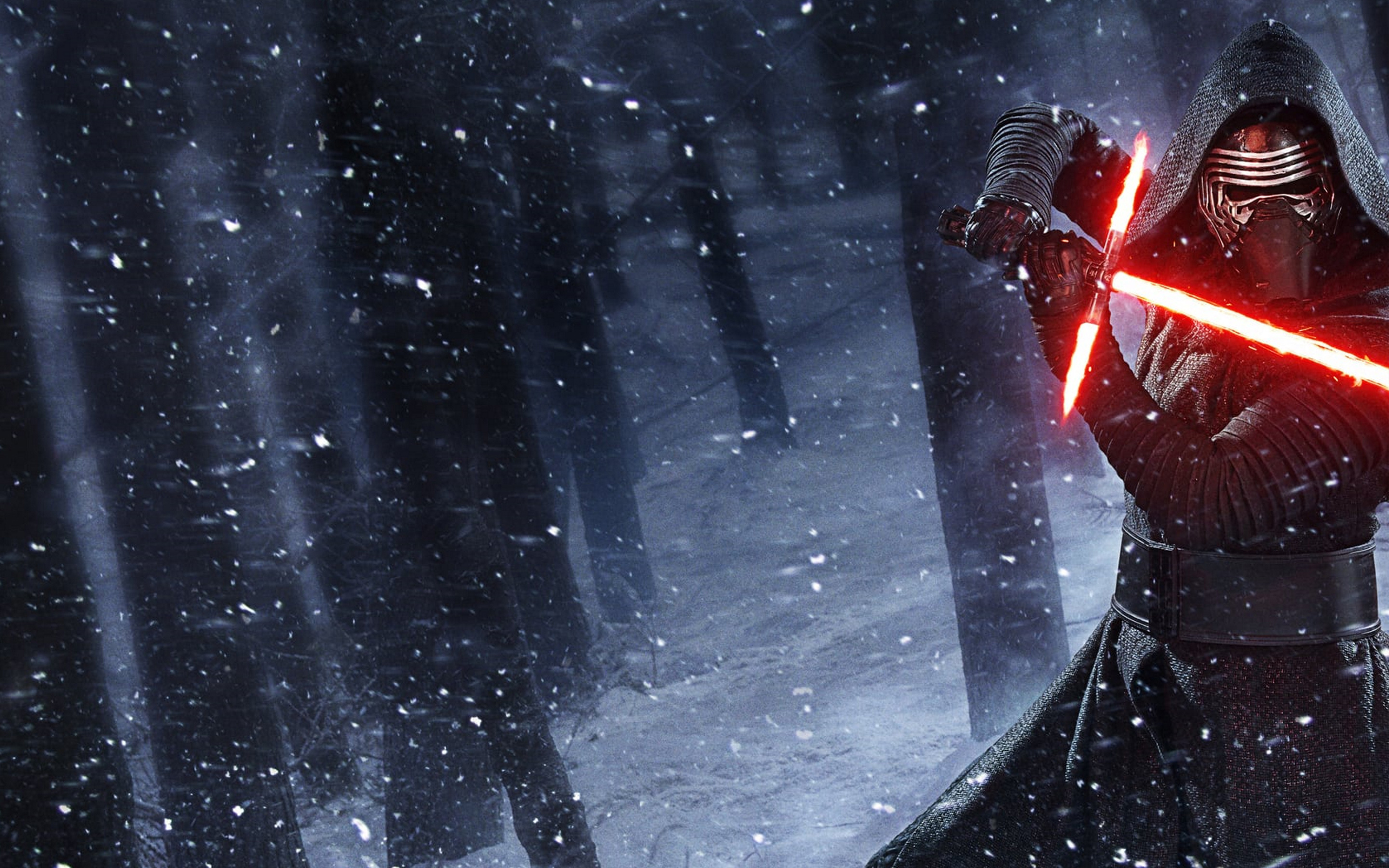 kylo ren star wars lightsaber wallpaper