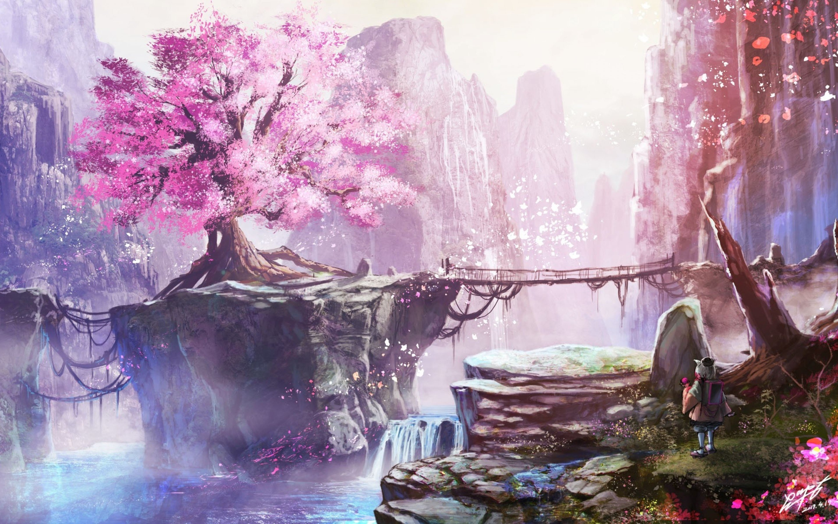 Anime Cherry Blossom Aesthetic Wallpaper