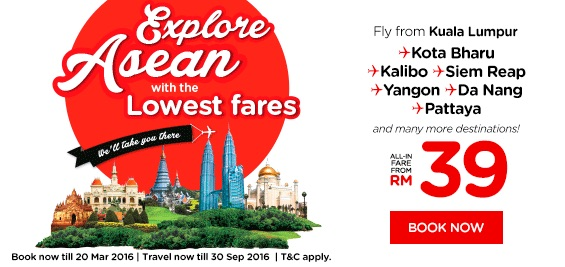 AirAsia RM Lowest Fares Promotion