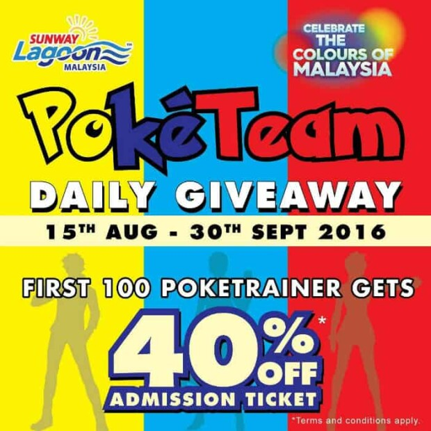 Pokemon Trainer Giveaway in Sunway Lagoon 2016