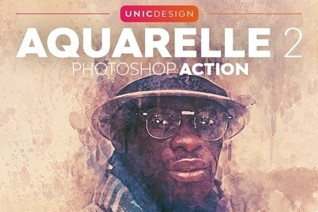 Aquarelle 2 Photoshop Action Sekarbinharshop