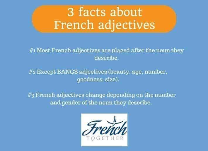 French adjectives rules