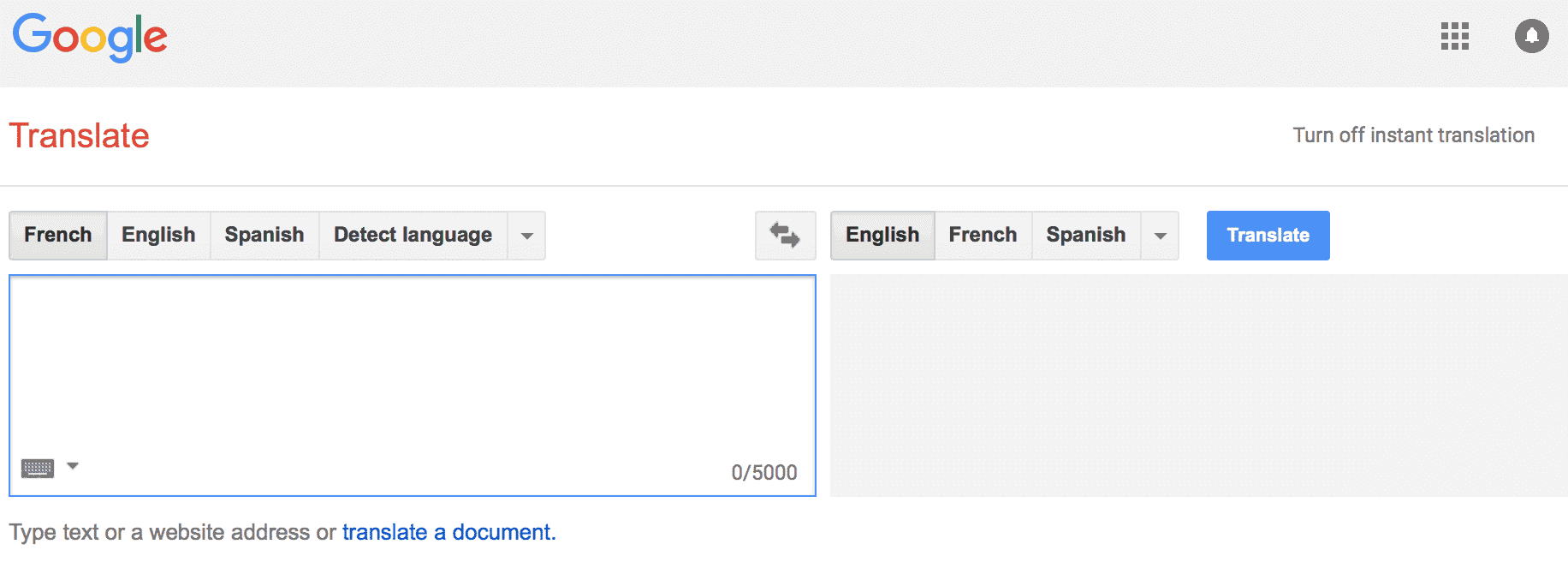 best free online french to english translation