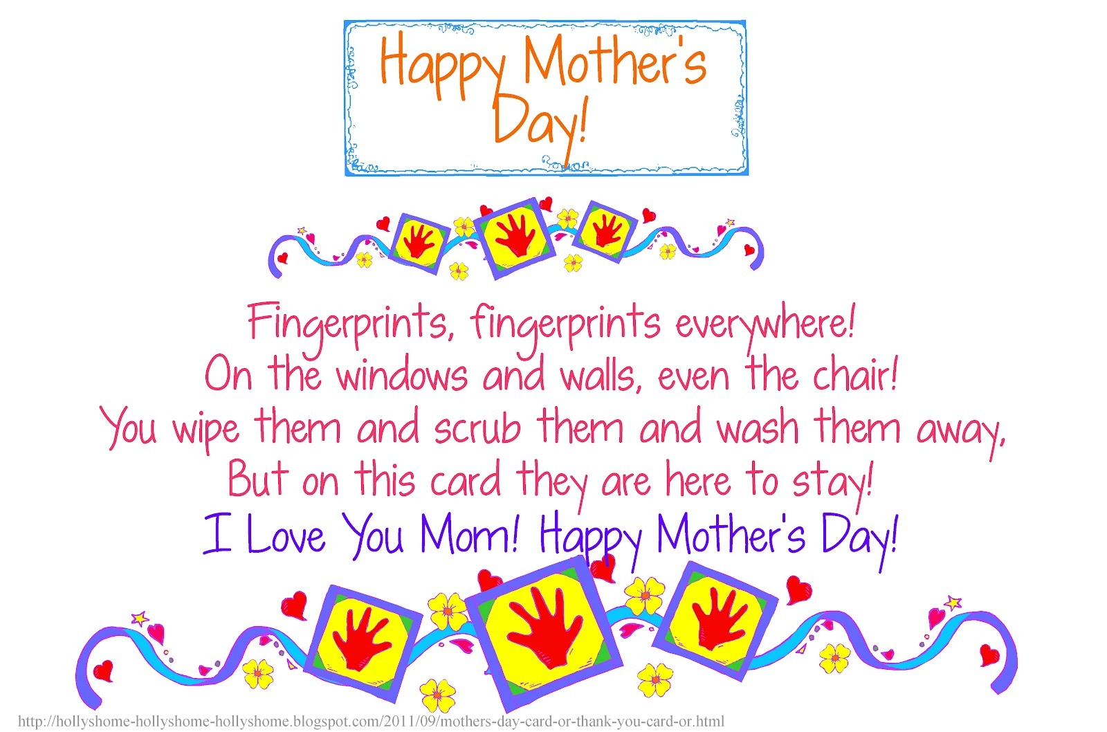 Mother Day Cards Poems 1
