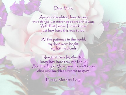 Poems From A Mother To Her Daughter 2