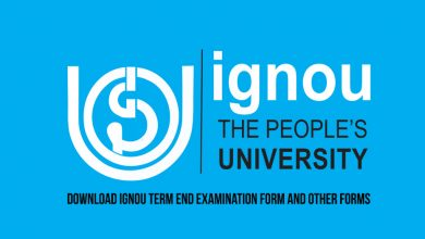 Photo of Download IGNOU Term End Examination Form and Other Forms