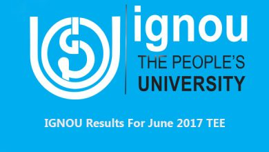 Photo of IGNOU Results For June 2017 TEE