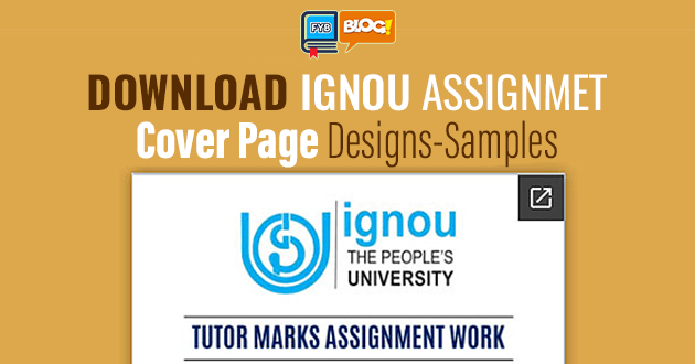 ignou-assignment-cover-page