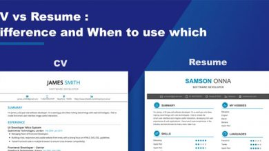 Photo of Difference Between CV and Resume (CV vs Resume)