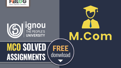 Photo of Ignou MCO Solved Assignment- Free Download