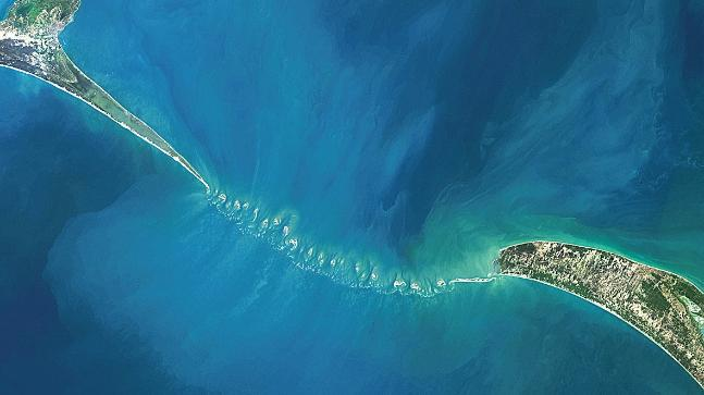 Satellite view Ram Setu